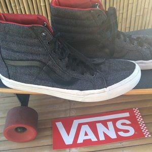 Vans Old Skool High Top Herringbone Sneakers